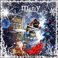 Christmas Eve Quotes, Merry Christmas To All, Christmas Scenes, Blue Christmas, Vintage Christmas Cards, Winter Christmas, Christmas Time, Animated Christmas Pictures, Animated Christmas Tree