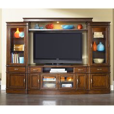 Liberty Furniture Hanover Entertainment Center With Piers   $2598 @hayneedle