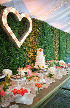 Amazing wedding cake and desserts table...