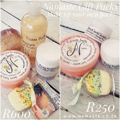 🛍 If you're looking for luxury #Gift packs to suit your budget and your taste, then select from our range of awesome #BestSeller #MustHave #NamasteProducts WhatsApp 0651144242 or email cat@namaste.co.za 💕 www.namaste.co.za #Butter #Scrub #FoamBath #Cookie #Biscuit #EpsomSalts  #Loofah #Soap #Voucher All in reusable containers or bring them back when empty to refill or donate to the Owl Rescue Centre www.namaste.co.za/sr Orange Scrubs, Namaste, Empty, Personalized Gifts, Centre, The Cure, Owl, Packing, Budget