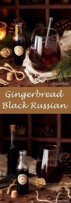Gingerbread Black Russian #blackrussian #gingerbread #gingerbreadcocktail
