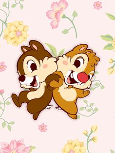 Chip and Dale looking even more adorable than normal!! ^u^ <3 <3 <3