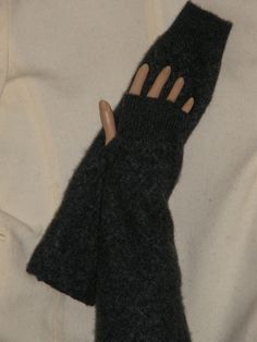 long gray Cashmere arm warmer Fingerless by mcleodhandcraftgifts,   pure cashmere, pure luxury, pure softness, pure love