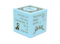 Personalized Baby Block New Baby Gift Birth Block by Koobik