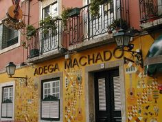 ADEGA MACHADO is one of the oldest Fado houses located in Bairro Alto, Rua do Norte 91 normally open as from 8 P.M to 3 A.M. #Lisbon #Portugal