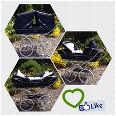 Silver Cross Twin Trident Pram in Navy