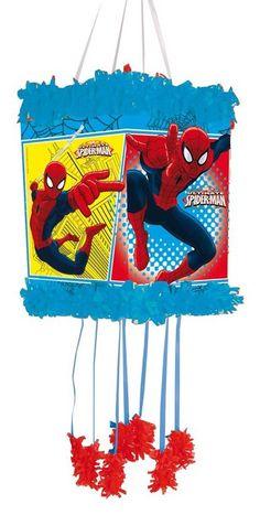 027608138 Piñata pequeña de Spiderman Piñatas De Spiderman, Piñata Infantiles, Fiestas  Infantiles, Cumple Futbol