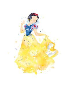 Snow White Print Snow White Art Watercolor Painting Disney Princess Snow White Poster Princess Print
