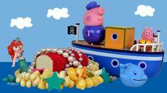 Peppa pig Sea Adventure Play doh Treasure English episodes 2015 Peppa pi...