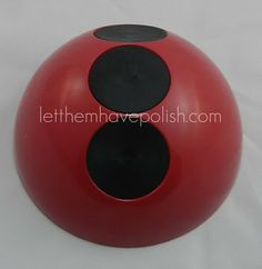 The 3 dots of our Lady Bug #nailpolish holder! Photo by Let Them Have Polish