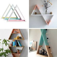 #GettheLook Why not get creative with the Tropicana Triangle Shelves from The Warehouse? Here are a couple of ideas...  #thewarehousenzhacks #hacks #furniture #upcycled #upcycle #repurpose #NewZealand  #thewarehousenz #interiors