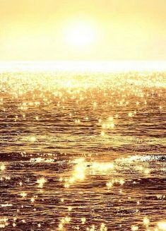 The sunlight reflects upon the glassy ocean waves casting dazzling flashes of lights resembling sparkling diamonds in the sea. A photograph by artist. Gold Aesthetic, Nature Aesthetic, Aesthetic Colors, Aesthetic Collage, Aesthetic Photo, Aesthetic Pictures, Retro Aesthetic, Sunset Pictures, Nature Pictures