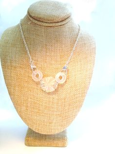 Sand Dollar Necklace Sea Glass Jewelry Ocean Jewelry Mermaid Necklace Beach Bride Bridesmaid Jewelry Wedding Jewelry Beach Glass #N7 by MermaidsMadness on Etsy
