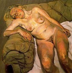 Blond Girl, Night Portrait - Lucian Freud