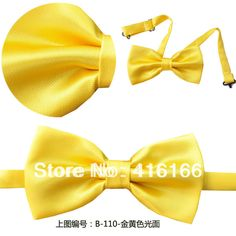 Cheap tie bow, Buy Quality tie silk directly from China tie cuff Suppliers: Product Name:-B110 Yellow Bow Tie silk men bow tie bowtieItem Code: B110(color code on the left of each pict