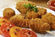 Receita de Espetinho de frango empanado - Comida e Receitas