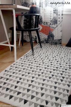 diy matto,tuunaus,työhuone,Tee itse - DIY,matto,tee-se-itse,printti,kuvio