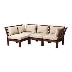 "ÄPPLARÖ sofa combination, beige, brown Depth: 31 1/2 "" Width right: 87 3/4 "" Width left: 56 1/4 "" Depth: 80 cm Width right: 223 cm Width lef..."