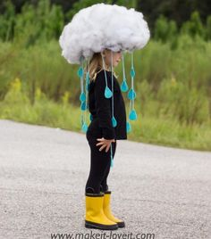 Rain cloud costume Spider Costume, Cute Costumes, Halloween Costumes For Kids, Halloween Party, Vintage Halloween, Costume Ideas, Star Costume, Children Costumes, Holiday Costumes