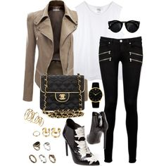 Untitled #959 by jaimiemarissa on Polyvore featuring Doublju, Paige Denim, Yves Saint Laurent, What Goes Around Comes Around, Larsson & Jennings, ASOS and H&M