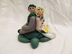 Hawaiian Lei Hand Sculpted Custom Wedding Cake Topper