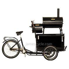 [james cycle] BBQ cargo bike . from jamesbike.taobao.com www.jamescycle.com Food Truck, Bicycle Cart, Bbq Corn, Bike Food, Tricycle Bike, Meals On Wheels, Pop Up Restaurant, Mobile Business, Bike Trailer