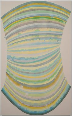 Hadley Holliday must be channeling the color vibrations of Frank Stella, Helen Frankenthaler, and Morris Louis.  She may have actually caught the rainbow. Artist website: hadleyholliday.com Gallery…