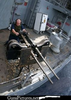 Twin 50 caliber machine gun