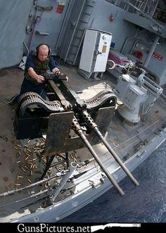Twin 50 caliber machine gun