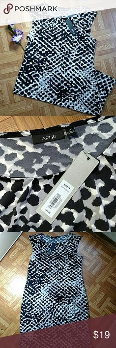 Fabulous Apt. 9 Dress Fabulous dress new with tags!!! Love the grey white and black print!! Light weight stretchy polyester material. Measures 18.5 in from armpit to armpit and 36in from mid shoulder to bottom. Apt. 9 Dresses