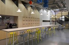 BDG architecture + design has developed a new office design for Brand Union located in London, England. Pharmacy Design, Retail Design, Commercial Design, Commercial Interiors, Office Interior Design, Office Interiors, Architecture Office, Architecture Design, Office Canteen