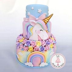 48 Ideas For Birthday Party Cake Unicorn Unicorne Cake, Eat Cake, Cupcake Cakes, Beautiful Cakes, Amazing Cakes, Bolo Fake Eva, Pinterest Cake, Unicorn Foods, Unicorn Birthday Parties