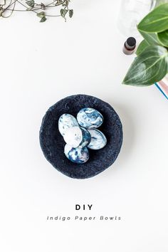 DIY Indigo Paper Bowls Tutorial   @fallfordiy