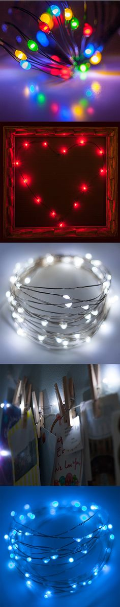 Get creative with crafts using colorful fairy lights! Battery operated string lights are so versatile - outline a frame, illuminate bedroom decor accents, create table centerpieces and more all with these tiny, super bright LED lights!