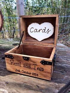 Shabby Chic and Rustic Wooden Card Box  Rustic by CountryBarnBabe, $46.00