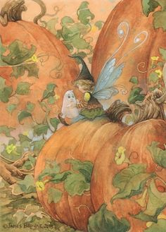 Fairy, ghost and pumpkins - James Browne