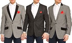Groupon - Elie Balleh Milano Italy Men's Slim-Fit Blazers in [missing {{location}} value]. Groupon deal price: $39.99 Slim Man, Blazers, Suit Jacket, Italy, Stylish, Fit, Jackets, Things To Sell, Fashion