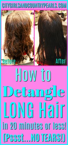 Long Hair Don't Care – How to Detangle Long Hair in Less Than 20 Minutes! No Tears Involved!