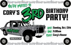 Customized Derby Birthday Inites! Derbytees.com - BIRTHDAY PARTY INVITES, $15.00 (http://www.derbytees.com/birthday-party-invites/)