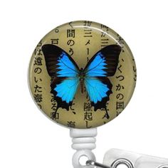 ID Card Holder, ID Badge Reels, Retractable Badge Holder Butterfly by sparklinghope on Etsy https://www.etsy.com/listing/246991435/id-card-holder-id-badge-reels