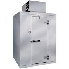 """The Kolpak QS7-066-CT indoor walk-in cooler boasts a rugged, high performance design intended for years of trouble-free use. A top-mounted, 1/2 hp refrigeration system fits flush to the interior cavity, giving you 100% usable interior space. Its self-contained design with automatic condensate evaporator doesn't require any plumbing, and it installs easily without the need for a refrigeration technician.<br><br>The walk-in's """"Posi-Loc"""" panel fasteners and mag..."""