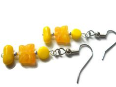 #earrings #butterfly #yellow #jonquil #jewelry #fashion #handmade #chicagolandia #sunshine #vintage-inspired #beadedjewelry #beadearrings #yellowearrings by chicagolandia, $15.00