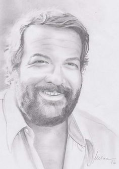 My homage of a pencil drawing of Bud Spencer ... R.I.P. Carlo Pedersoli
