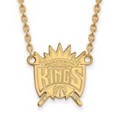 14ky NBA LogoArt Sacramento Kings Large Pendant w/Necklace