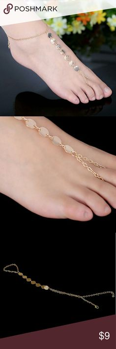 European Gold Plated Anklet Punk Style European Hot Sale Gold Plated Anklet for Women.   Length: 21cm+6cm Jewelry Bracelets
