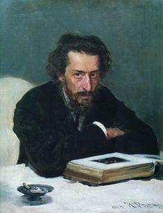 Portrait of composer and journalist Pavel Ivanovich Blaramberg by Ilya Repin 1884