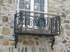 www.salvageantiques.com  Antique Iron Balcony