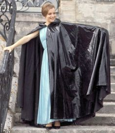 A voluminous black cape