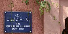 La rue Yves Saint Laurent à Marrakech
