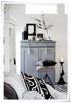 Grey furniture piece